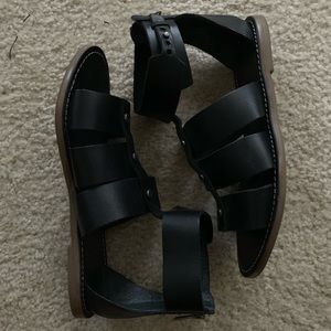 Madewell Rowan Black Gladiator Sandals size 7.5